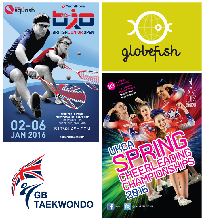 British Junior Squash Open, GB Taekwondo, Globefish, UKCA Spring Cheerleaders